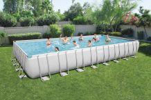 IONA Szögletes fémvázas medence szett 956x488x132 cm FFA 500