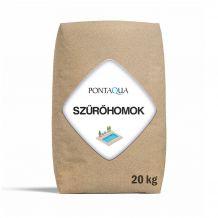 Kvarchomok homokszűrős vízforgatóhoz 0,7 - 1,2 mm, 20kg SZH 902