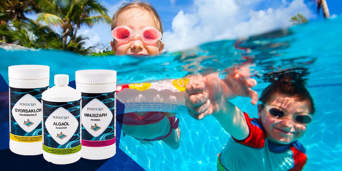 Alapvető vegyszerek medencevíz kezeléséhez