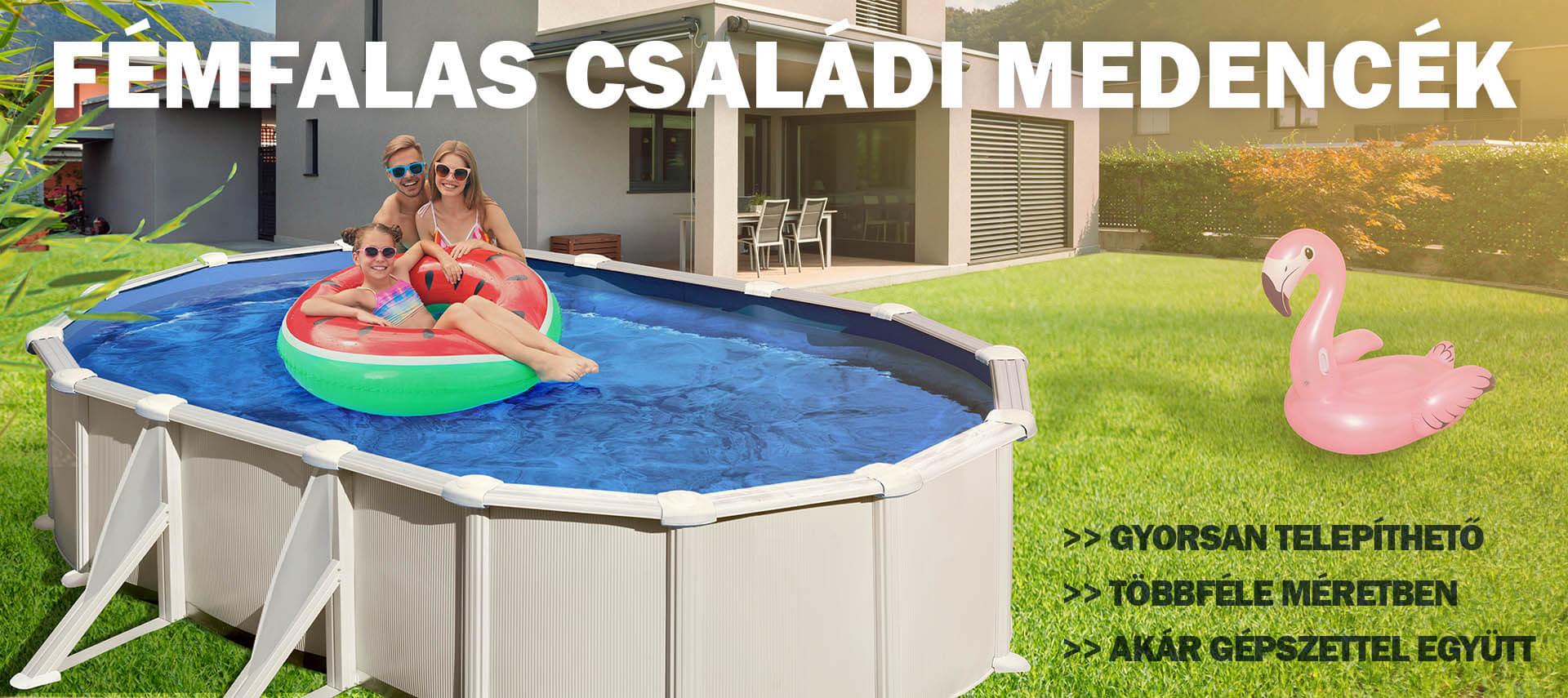 Fémfalas családi medencék - Aqualing.hu