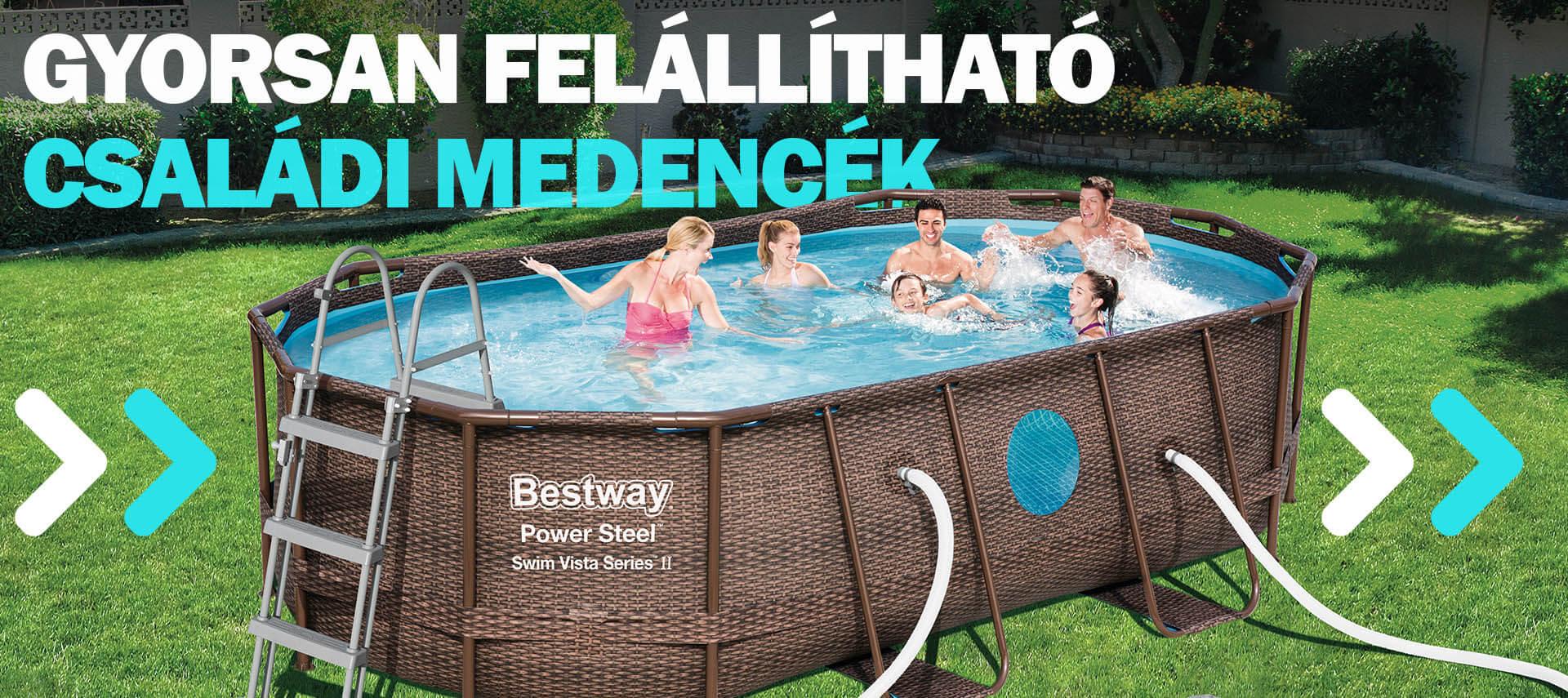 Fémvázas medencék - Aqualing.hu